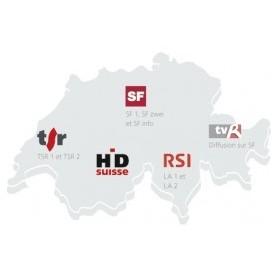 Mapa de cadena Suiza, Suiza Switzera