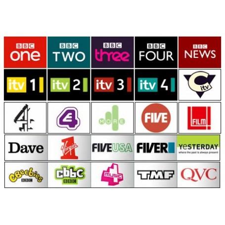 Abonnement 12 mois Freeview, chaîne anglaise