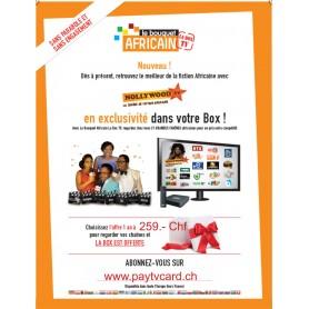 Il Bouquet africano, 1 anno di abbonamento tv senza canali delle antenne satellitari