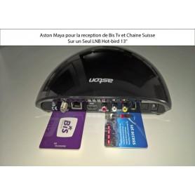 Aston Maya semplice HD LNB sapeva Birs + Bis abbonamento 1 anno base