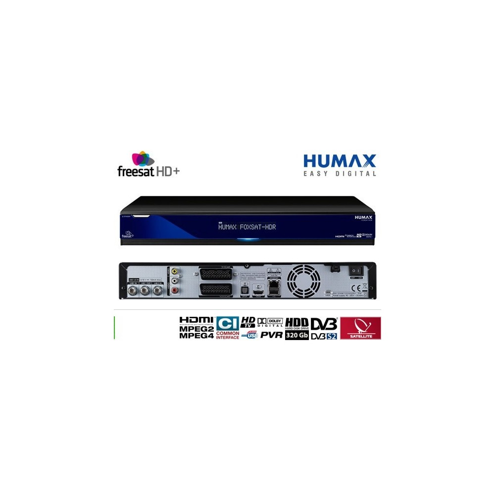 Receiver Humax FOXSAT-HDR Freesat, English satellite channel for