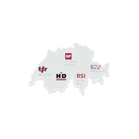 Carte chaine Suisse, Switzerland Switzera