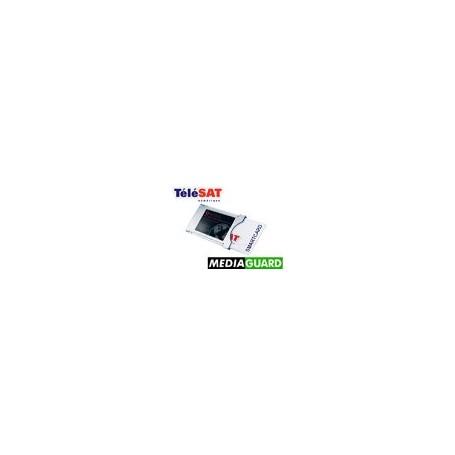 Pacote de luz TELESAT 12 meses + módulo MediaGuard
