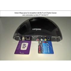 Aston Maya HD avec commutateur ou Astra 19°- Hot-bird 13°