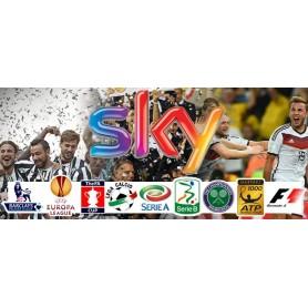 Cielo + deporte + EPL tarjeta inteligente, suscripción + decodificador de Sky italia