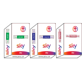 Sky Tv Italia Hd, Sky Calcio HD, Sky Sport HD, Sky movies HD, Sky It abonneement card.