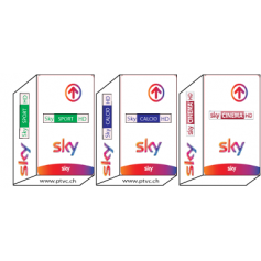 Sky Tv Italia Hd, Sky Calcio HD, Sky Sport HD, Sky movies HD, Sky It subscription card.