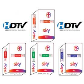 Sky Italia Hd Tv, família SKY Hd, Sky HD Calcio, Sport Sky HD, Sky filmes HD, Sky-abonneement cartão.