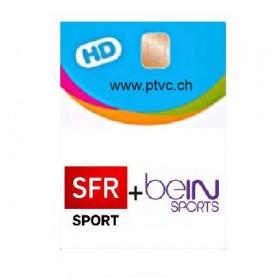 Carte d'abonnement Sfr Sport et Bein sport