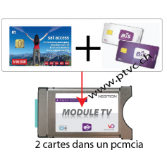 Pcmcia Viaccess secure ready, pour carte Suisse sataccess et Dual BIS READY Cardless