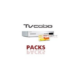 PACK : Carte à puce d'abonnement TV Cabo + deco Hd