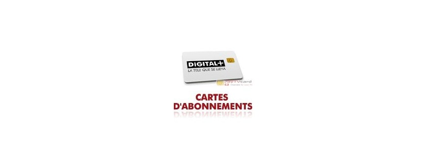 Carte à puce, abonnement Digital +