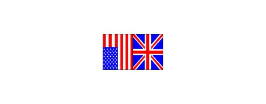 TV inglés, Inglés, americano
