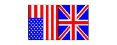 TV inglês, inglês, americano