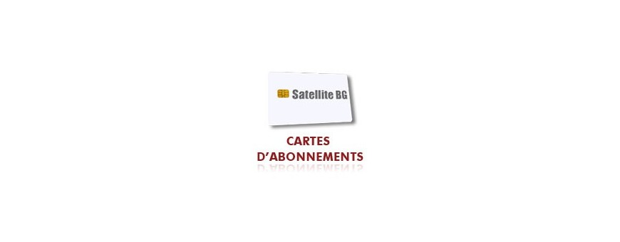 Carte Abonnement Satellite BG